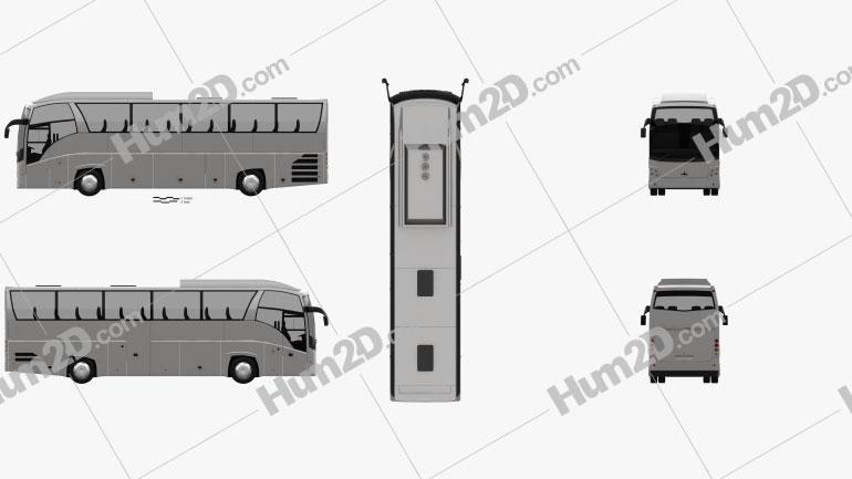 MAZ 251062 Bus 2016 clipart