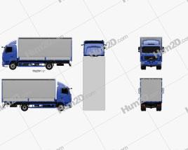 MAZ 4381 Box Truck 2017 Clipart