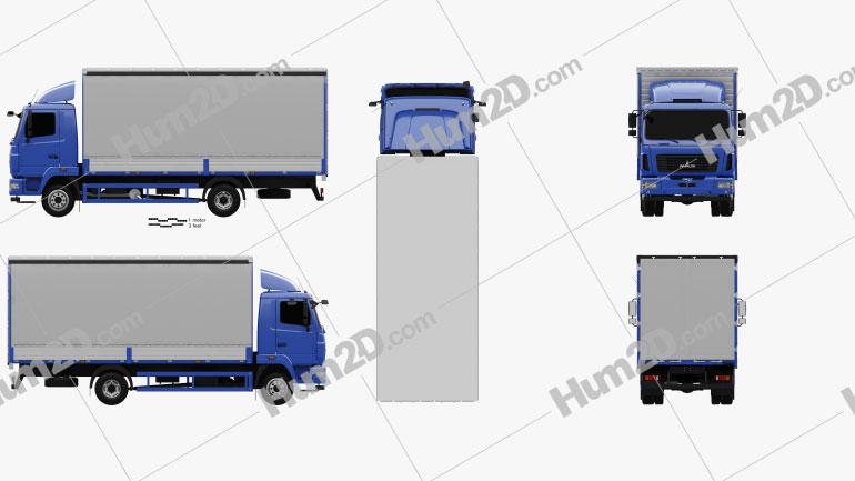 MAZ 4381 Box Truck 2017