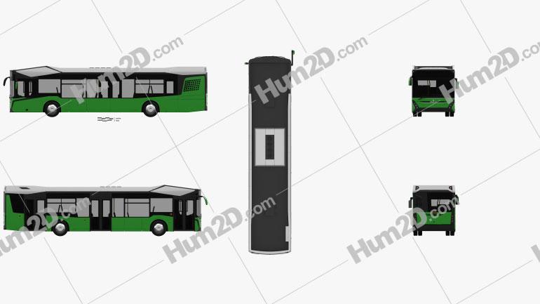 MAZ 303 Bus 2019 clipart