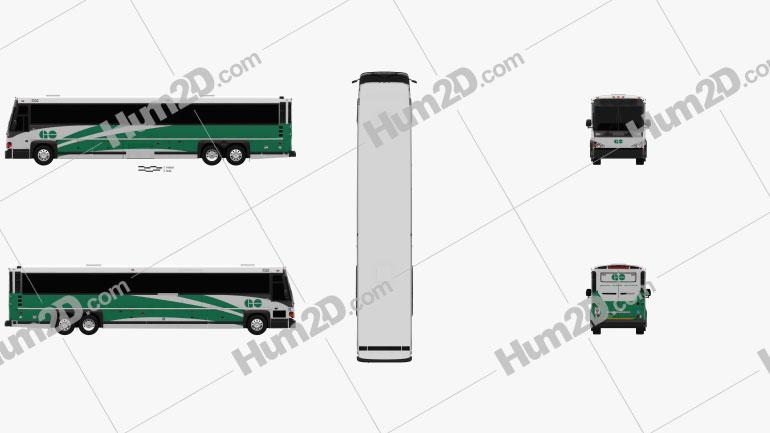 MCI D4500 CT Transit bus 2008 clipart
