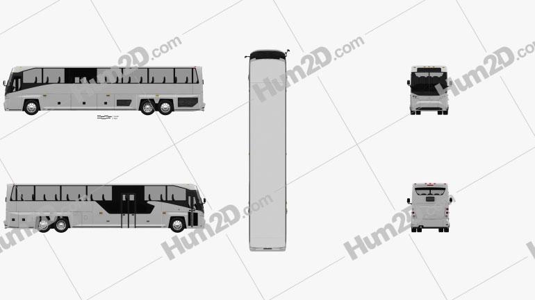 MCI D45 CRT LE Coach Bus 2018 clipart