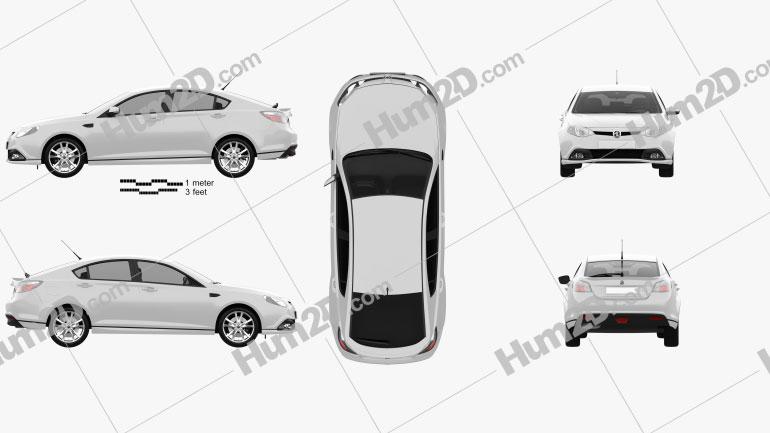 MG6 GT 2012 car clipart