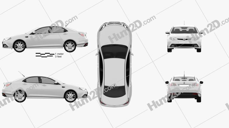MG6 Magnette 2012 car clipart