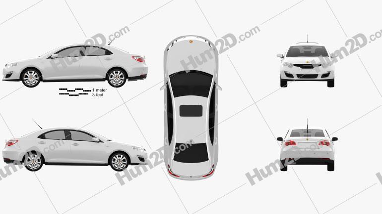 MG 550 2012 car clipart