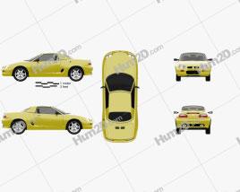MG F 1999 car clipart