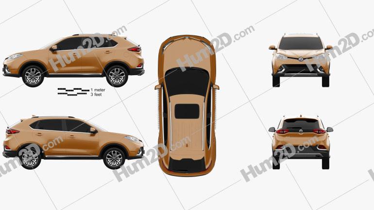 MG GS 2015 car clipart
