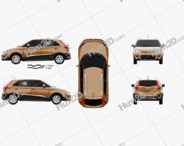 MG 3 Xross 2011 Clipart