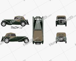 MG TC Midget 1945 car clipart