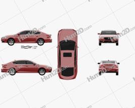 MG 6 2017 car clipart