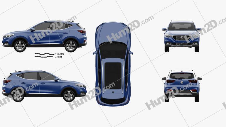 MG ZS 2017 car clipart