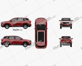 MG Hector 2019 car clipart