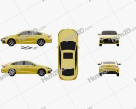 MG 5 2021 car clipart