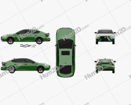MG 6 2021 car clipart