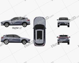 MG Marvel R 2021 car clipart