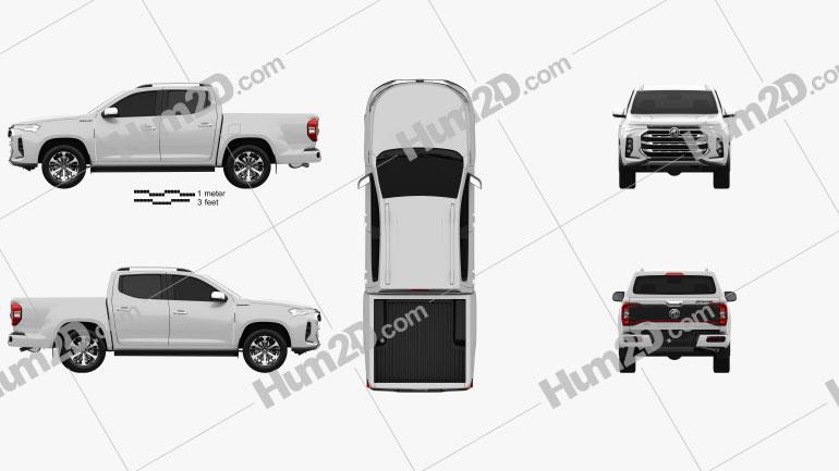 MG Extender Double Cab 2021 car clipart