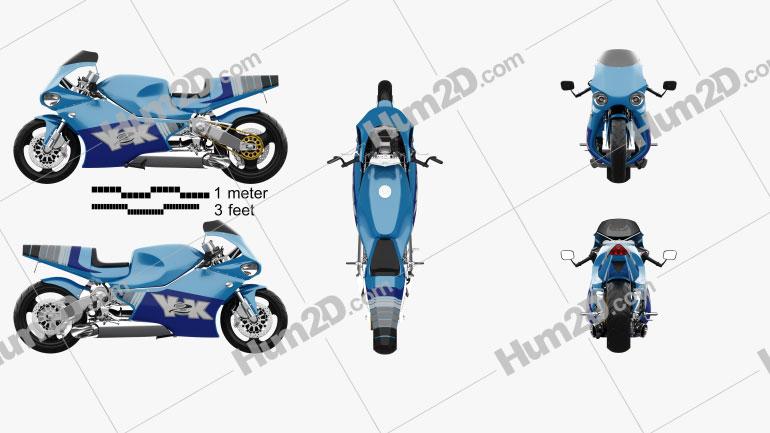 MTT Y2K 2000 Motorcycle clipart
