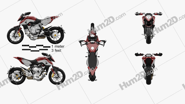 MV Agusta Rivale 800 2015 Motorcycle clipart
