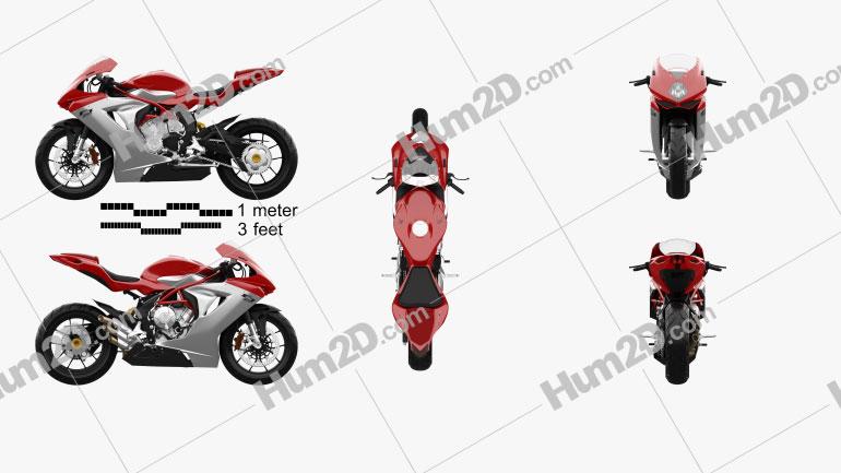 MV Agusta F3 800 2014 Motorcycle clipart