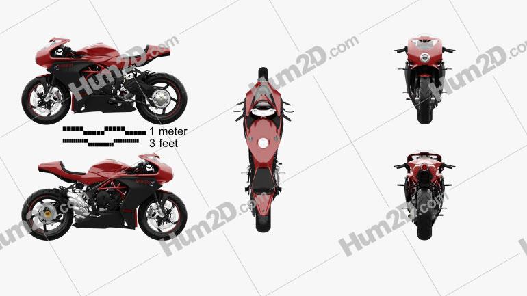 MV Agusta Superveloce 800 2020 Motorcycle clipart