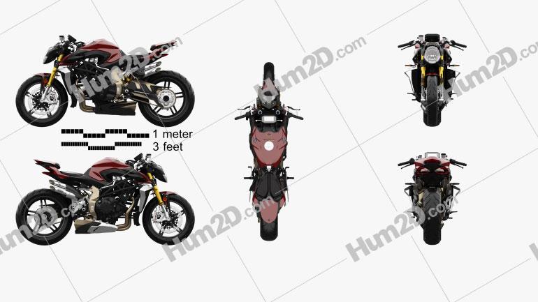 MV Agusta Brutale 1000 Serie Oro 2020 Motorcycle clipart