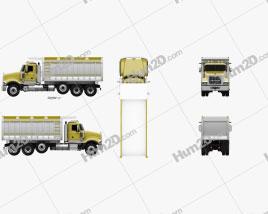 Mack Granite Dump Truck 2009 Clipart