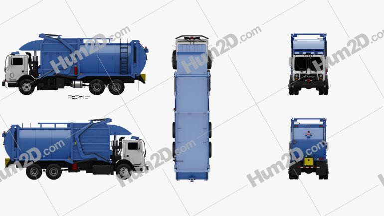 Mack TerraPro Hercules Garbage Truck 2007 Imagem Clipart