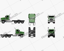 Mack Titan Tractor Truck 4axle 2007 Clipart