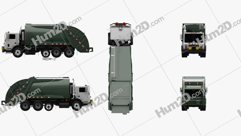 Mack TerraPro Garbage Truck 2007 clipart