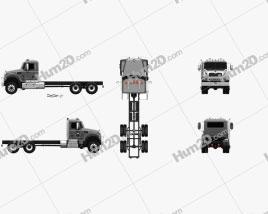Mack Granite MHD Fahrgestell LKW 2016 clipart