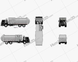 Mack LR Garbage Truck 2015 clipart