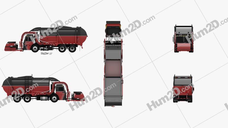 Mack TerraPro Mcneilus Garbage Truck 2016 clipart