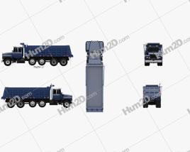 Mack RD600 Dump Truck 2000