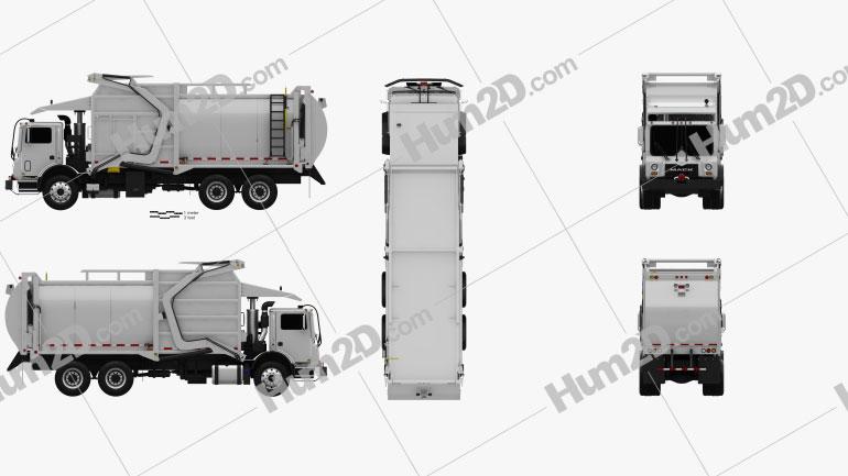 Mack TerraPro MRU613 Garbage Hercules Truck 2017 Clipart Image