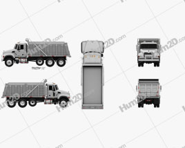 Mack Granite CV713 Dump Truck 2009 Clipart