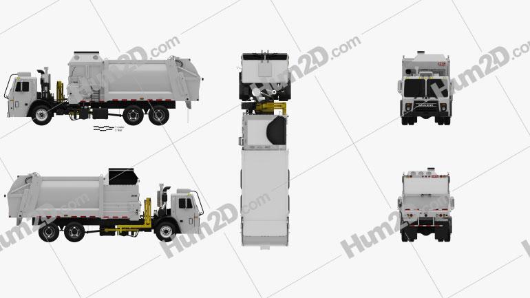 Mack LR LEU613 Garbage Truck Heil 2015 clipart