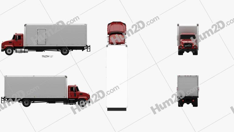 Mack MD Box Truck 2020 clipart