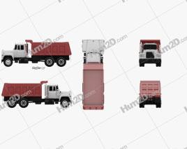 Mack R600 Dump Truck 1988 Clipart