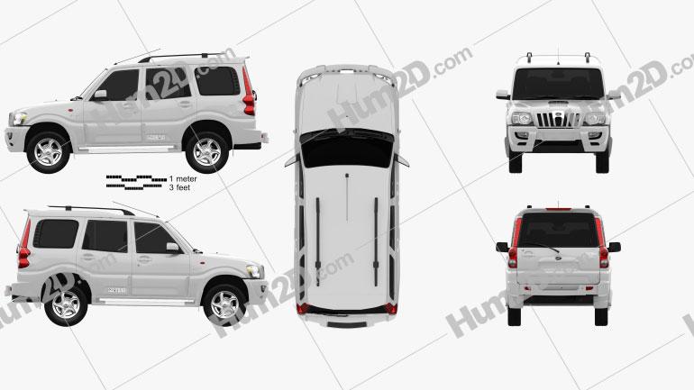 Mahindra Scorpio 2009 car clipart