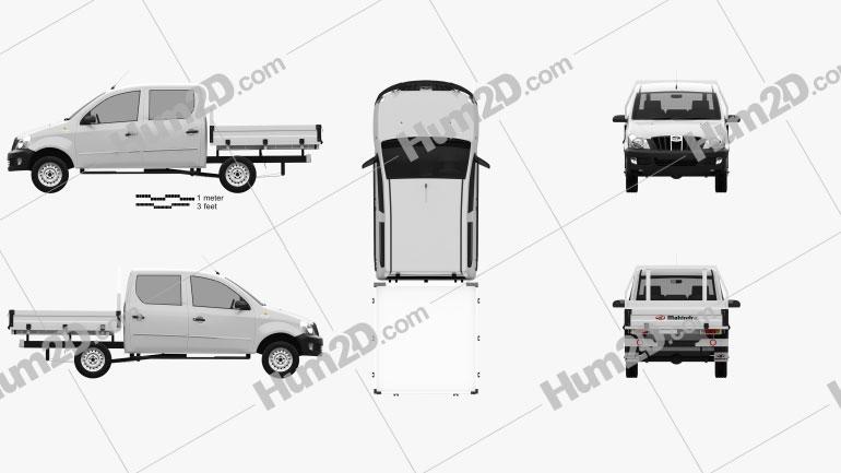 Mahindra Genio Dual Cab Pickup 2011 car clipart