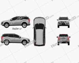 Mahindra XUV500 2011 car clipart