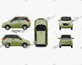 Mahindra e2o 2013 car clipart
