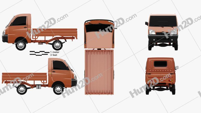 Mahindra Maxximo Pickup 2010 clipart