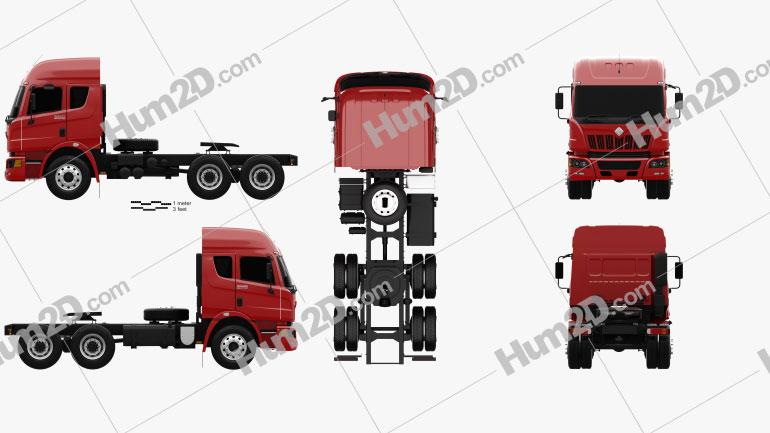 Mahindra MN 49 Tractor Truck 2010 clipart