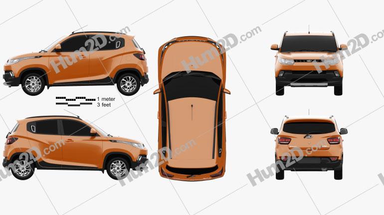 Mahindra KUV 100 2015 car clipart