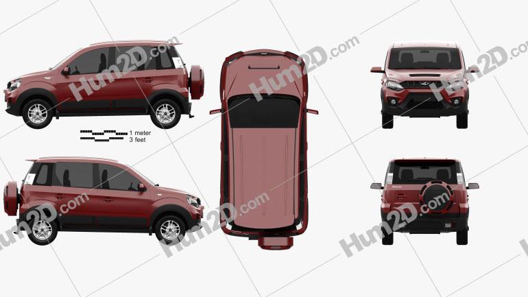 Mahindra NuvoSport 2016 car clipart