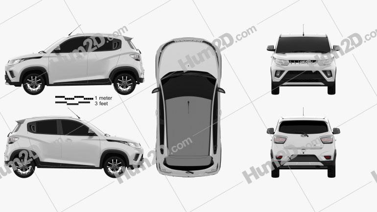 Mahindra KUV 100  2018 car clipart