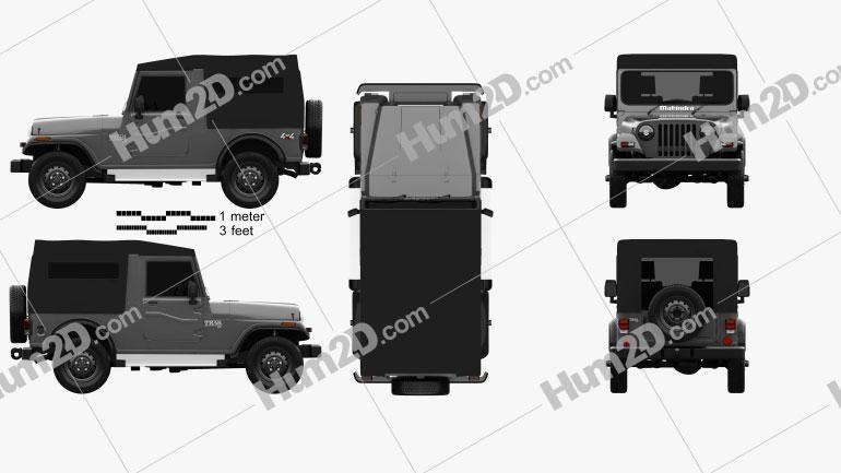 Mahindra Thar 2010 car clipart