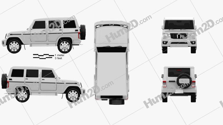 Mahindra Bolero 2020 car clipart