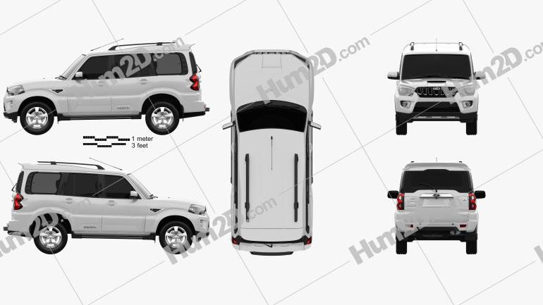 Mahindra Scorpio S11 2020 car clipart